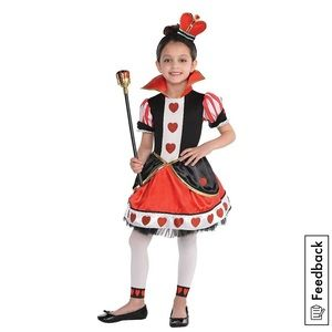 Gorgeous Queen of hearts toddler costume